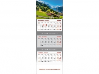 Kalendarz trójdzielny WN 2022 - Góry