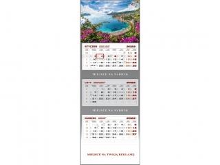 Kalendarz trójdzielny WN 2022 - Lazurowe wybrze¿e
