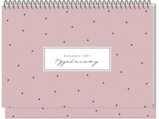 Kalendarz na biurko INTERDRUK tygodniowy Dots