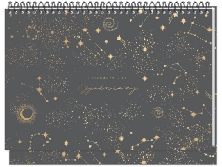 Kalendarz na biurko INTERDRUK tygodniowy Kosmos