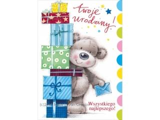 Kartki karnet B6 K - 1308 Urodziny