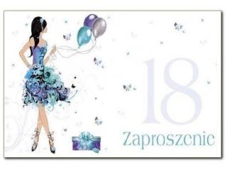 Kartki zaproszenia Pol-Mak  Z  28537 18-tka grafika/kobiece 10szt.