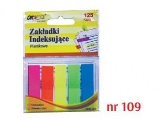 Zak³adki indeksuj±ce plastikowe  109   12X45mm,  5 kolorów