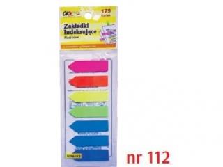 Zak³adki indeksuj±ce plastikowe  112   12X45mm,  7 kolorów