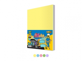 Papier ksero A4 160 gr mix 5 kol. 100 arkuszy PASTELOWE PAS-