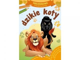 Kolorowanka SKRZAT Maluszkowe malowanie - Dzikie koty