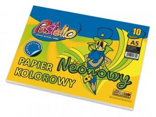 Papier kolorowy A5 neonowy samoprzylepny Mix 10 kartek
