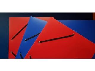 Teczka Heftbox plastik 2szt niebieskie + 2szt czerwone