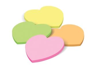 Notes samoprzylepny serce 40 kartek RÓ¯OWY