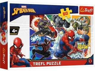 Puzzle   60 TREFL Waleczny Spider-Man