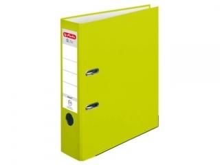 Segregator A4 8cm HERLITZ Q.file standard PP - neon green