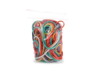 Gumki recepturki mix kolor 50g woreczek PAS-4044