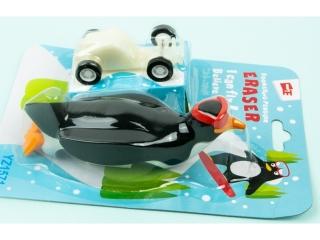 Gumka Pingwin z autem