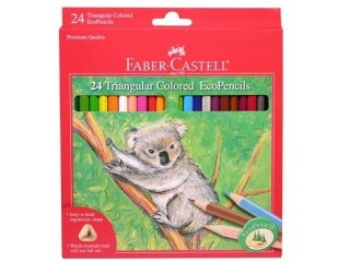 Kredki FABER-CASTELL trójk±tne 24 kolorów + temperówka opako