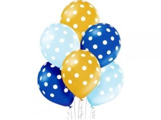 Balony D11 Polka Dots Boy 1C5S, 6 szt.
