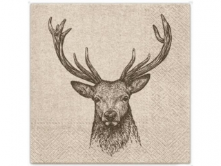 Serwetki papierowe PAW wzorzyste We Care Deer 33x33 cm / 20 szt.