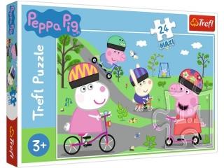 Puzzle   24 Maxi TREFL ¦winka Peppa - Aktywny dzieñ ¦winki Peppy