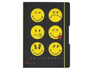 Notes PP A4 2x40 HERLITZ Smiley World Black