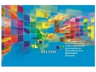 Blok techniczny kolorowy A4 20k. KRESKA 300g