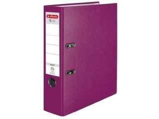 Segregator A4 8cm HERLITZ Q.file standard PP - jagodowy