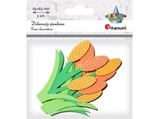 Dekoracje piankowe TITANUM Kwiaty 5szt. 8cm
