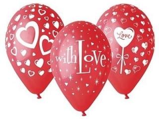 """Balony Premium """"Love"""", 12"""" / 25 szt. KK"""