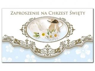Zaproszenie sk³adane Chrzest nr 44672 niebieskie a10