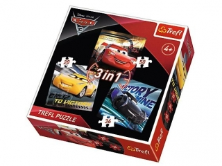 "Puzzle   ""3w1"" TREFL Cars 3 - Legendy wy¶cigu"