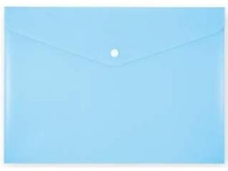 Koperta na zatrzask PENMATE A4 PP-113 niebieska pastelowa