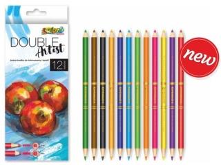 Kredki PENMATE Kolori premium dwustronne 12 kolorów 4/3mm