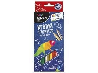 Kredki trójk±tne KIDEA 12 kolorów HURT