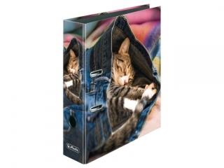 Segregator A4 8cm HERLITZ maX.file - Jeans cat