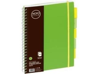 Ko³obrulion A4 100k. Grand NOTO Book z przek³adkami zielony
