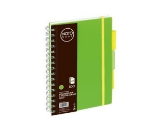 Ko³obrulion A5 100k. Grand NOTO Book z przek³adkami zielony