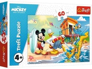 Puzzle   60 TREFL Ciekawy dzieñ Mikiego i przyjació³