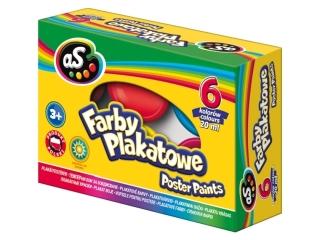 Farby plakatowe AS 6 kolorów - 20 ml HURT [opakowanie=16szt]