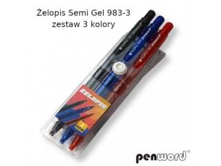 ¯elopis PENWORD Semi grl 983-3 zestaw 3 kolory