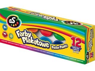 Farby plakatowe AS 12 kolorów - 20 ml