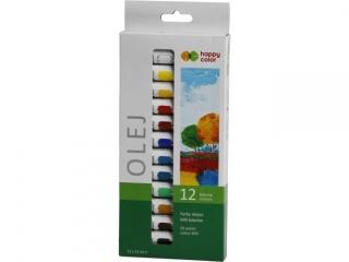 Farba olejna HAPPY COLOR 12 kolorów x 12ml