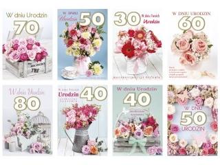 Laurka B6 z g±bk± exclusive Urodziny, zest. 392 Kwiaty - Mix