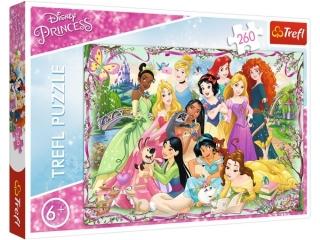 Puzzle  260 TREFL Disney Ksiê¿niczki - Spotkanie ksiê¿niczek