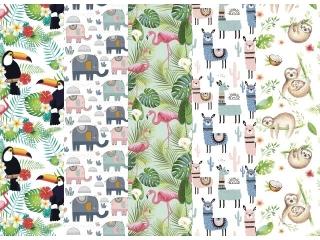 Papier ozdobny w rolkach POL-MAK 70x100 zestaw 164 - Zwierzê