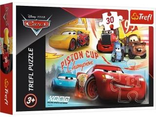 Puzzle   30 TREFL Cars 3 - Zwyciêska dru¿yna