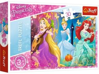 Puzzle   30 TREFL Disney Ksiê¿niczki -  Zaczarowana melodia