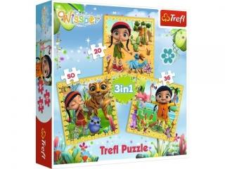 "Puzzle   ""3w1"" TREFL Wissper - Wspólne podró¿e"
