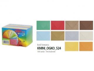 Koperty kolorowe mini 110x75 opak 100 szt. Ogólne mix koloró