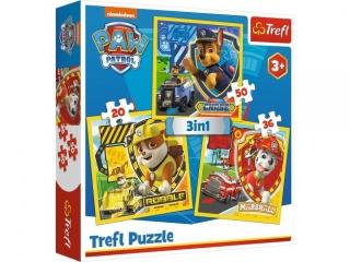 """Puzzle   """"3w1"""" TREFL Paw patrol - Marshall, Rubble i Chase"""