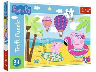 Puzzle   24 Maxi TREFL ¦winka Peppa na wakacjach