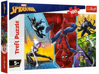 Puzzle  100 TREFL Spider-Man - Do góry nogami