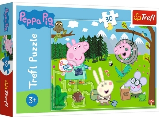 Puzzle   30 TREFL ¦winka Peppa - Le¶na wyprawa